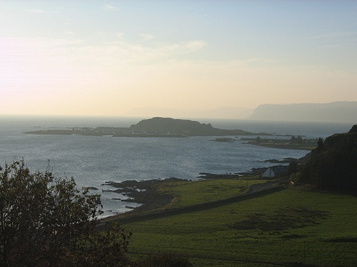 Looking over to Easdale island